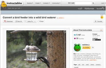 http://www.instructables.com/id/Convert-a-bird-feeder-into-a-wild-bird-waterer/