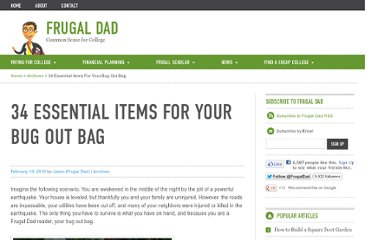 http://frugaldad.com/2010/02/10/bug-out-bag-essentials/