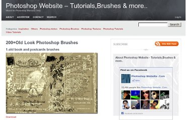 http://www.photoshopwebsite.com/photoshop-brushes/200old-look-photoshop-brushes/