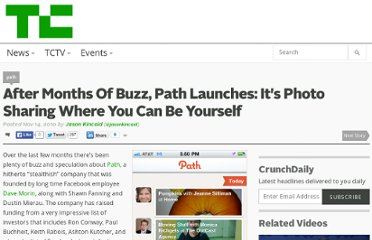 http://techcrunch.com/2010/11/14/path-photo-sharing/