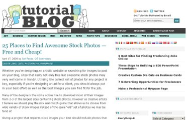 http://tutorialblog.org/25-places-to-find-awesome-stock-photos-%e2%80%94-free-and-cheap/