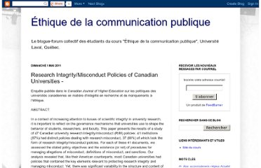 http://ethiquedelacom.blogspot.com/2011/05/research-integritymisconduct-policies.html