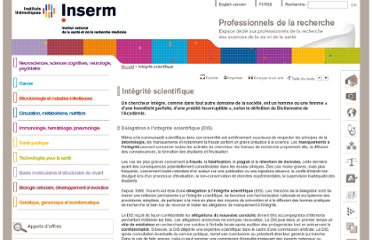 http://extranet.inserm.fr/integrite-scientifique