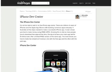 http://inkcredible.hubpages.com/hub/iPhone-Dev-Center