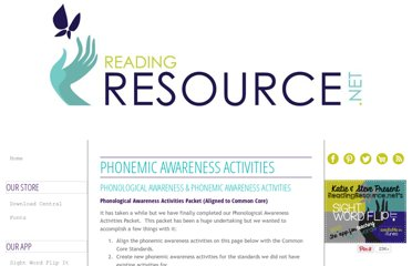 http://www.readingresource.net/phonemicawarenessactivities.html