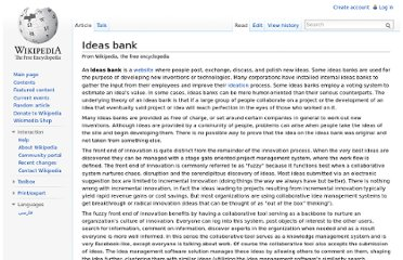 http://en.wikipedia.org/wiki/Ideas_bank