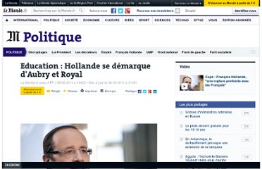 http://www.lemonde.fr/politique/article/2011/09/09/education-hollande-se-demarque-d-aubry-et-royal_1570196_823448.html