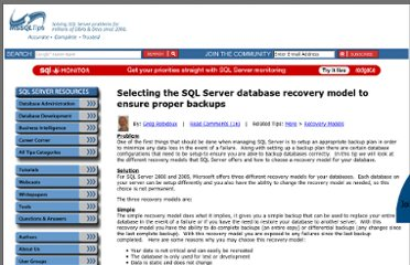 http://www.mssqltips.com/sqlservertip/1497/selecting-the-sql-server-database-recovery-model-to-ensure-proper-backups/