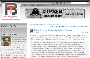 http://freethoughtblogs.com/dispatches/2011/09/09/taxes-spending-regulation-and-the-economy/