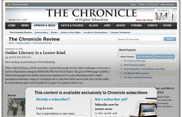 http://chronicle.com/article/Online-Literacy-Is-a-Lesser/28307