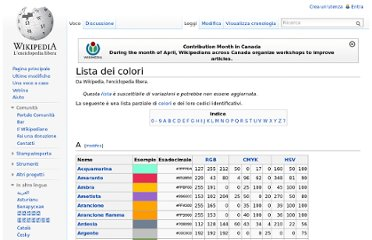 http://it.wikipedia.org/wiki/Lista_dei_colori