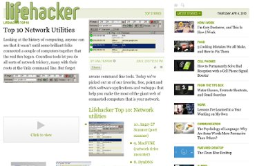 http://lifehacker.com/267208/top-10-network-utilities
