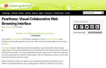 http://www.ubergizmo.com/2009/12/pearltrees-visual-collaborative-web-browsing-interface/