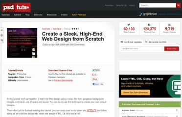 http://psd.tutsplus.com/tutorials/interface-tutorials/photoshop-web-design-sleek/