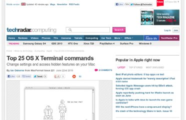 http://www.techradar.com/news/computing/apple/top-25-os-x-terminal-commands-696443