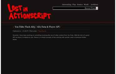 http://lostinactionscript.com/2007/10/13/flash-you-tube-api/