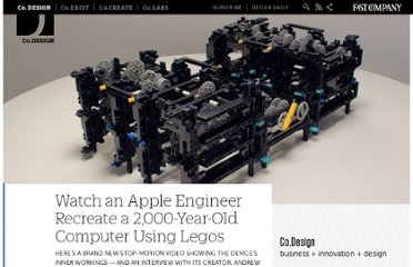 http://www.fastcodesign.com/1662831/watch-an-apple-engineer-recreate-a-2000-year-old-computer-using-legos