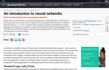 http://www.ibm.com/developerworks/linux/library/l-neural/?l=osdnfm