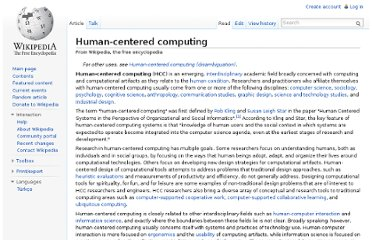http://en.wikipedia.org/wiki/Human-centered_computing