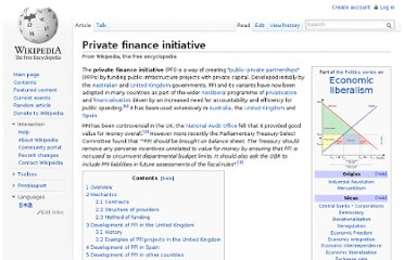 http://en.wikipedia.org/wiki/Private_finance_initiative