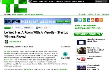 http://techcrunch.com/2008/12/10/le-web-has-a-room-with-a-viewdle-startup-winners-picked/