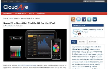 http://www.cloudave.com/508/roambi-beautiful-mobile-bi-for-the-ipad/