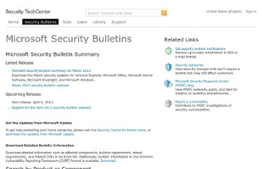 http://technet.microsoft.com/en-us/security/bulletin