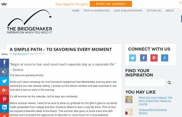 http://www.thebridgemaker.com/a-simple-path-to-savoring-every-moment/