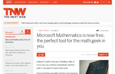 http://thenextweb.com/microsoft/2011/01/18/microsoft-mathematics-is-now-free-the-perfect-tool-for-the-math-geek-in-you/