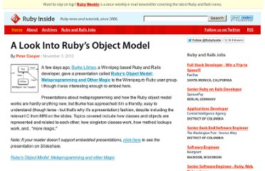 http://www.rubyinside.com/a-look-into-rubys-object-model-3940.html