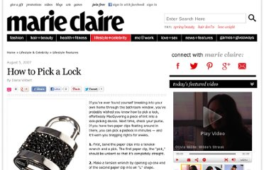 http://www.marieclaire.com/celebrity-lifestyle/articles/how-to-pick-a-lock