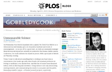 http://blogs.plos.org/mfenner/2010/09/04/unmeasurable-science/