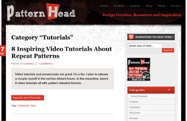 http://www.patternhead.com/category/tutorials