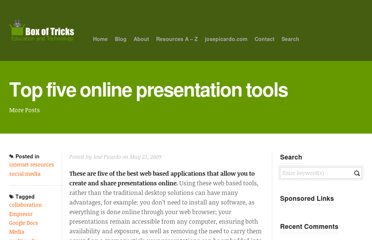http://www.boxoftricks.net/2009/05/top-five-online-presentation-tools/