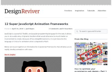 http://designreviver.com/articles/12-super-javascript-animation-frameworks/