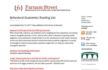 http://www.farnamstreetblog.com/2010/04/behavioral-economics-reading-list/