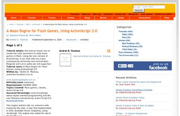 http://www.actionscript.org/resources/articles/166/1/A-Maze-Engine-for-Flash-Games-Using-ActionScript-20/Page1.html