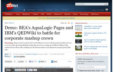 http://www.zdnet.com/blog/berlind/demo-beas-aqualogic-pages-and-ibms-qedwiki-to-battle-for-corporate-mashup-crown/572