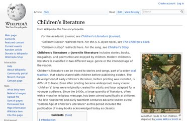 http://en.wikipedia.org/wiki/Children%27s_literature