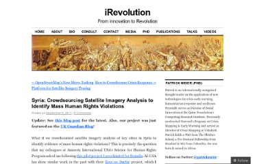 http://irevolution.net/2011/09/09/crowdsourcing-satellite-imagery-analysis-syria/