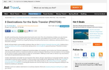 http://news.travel.aol.com/2011/06/26/8-ideal-destinations-for-the-solo-traveler/