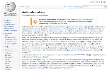 http://en.wikipedia.org/wiki/Anti-nationalism