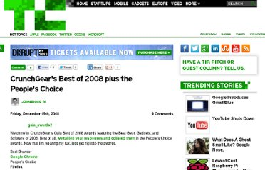 http://techcrunch.com/2008/12/19/crunchgears-best-of-2008-plus-the-peoples-choice/