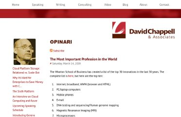 http://davidchappellopinari.blogspot.com/2009/03/most-important-profession-in-world.html