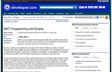 http://www.developer.com/java/other/article.php/3330861/SWT-Programming-with-Eclipse.htm
