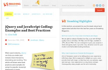 http://coding.smashingmagazine.com/2008/09/16/jquery-examples-and-best-practices/