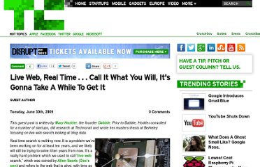 http://techcrunch.com/2009/06/30/live-web-real-time-call-it-what-you-will-its-gonna-take-a-while-to-get-it/