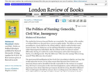 http://www.lrb.co.uk/v29/n05/mahmood-mamdani/the-politics-of-naming-genocide-civil-war-insurgency