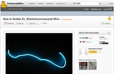 http://www.instructables.com/id/How-to-Solder-EL-Electroluminescent-Wire/#allstepslogin