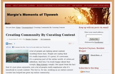 http://www.margieclayman.com/creating-community-by-curating-content